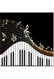 Quadro Impressão Digital Piano Preto E Branco 45X45 Uniart