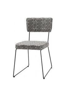 Cadeira Milan Estampa Lab Base Preta - 49681 Preto