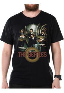 Camiseta Bandup Bandas The Beatles Picture Basic Preto