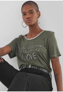 Camiseta Ellus Tricky Love Verde - Kanui