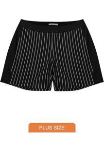 Short Plus Size Feminino Preto
