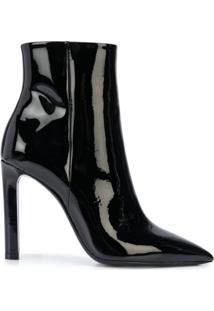 Saint Laurent Pointed Toe Ankle Boots - Preto