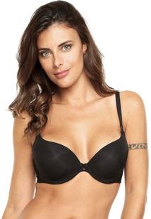 Sutiã Liz Push-Up Strass Preto