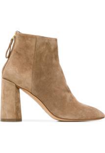 Premiata Block Heel Ankle Boots - Marrom