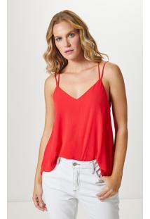 Blusa Alça Dupla Basic-Flame Red - Pp