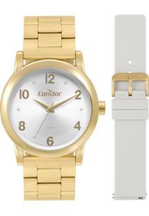 Relógio Condor Feminino Versátil Analógico Dourado Co2035Mqot8C - Kanui
