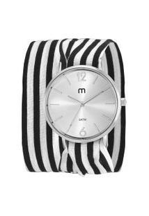 Kit De Relógio Analógico Mondaine Feminino + Pulseira - 32047L0Mgnd1K Prateado