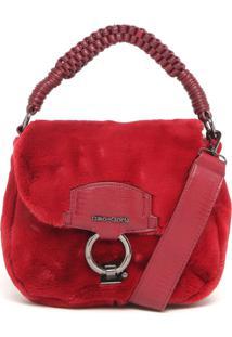 Bolsa Tiracolo Cravo & Canela Pelugem Vermelha
