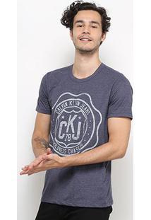 Camiseta Calvin Klein Ckj 78 Masculina - Masculino-Marinho