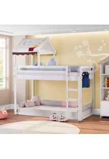Beliche Montessoriano Prime Com Telhado Vii Branco - Casatema