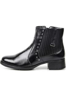 Bota Cano Curto Francawear Confort Sem Costura Ref 1002 Preta