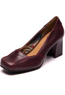 Sapato Mzq Roxo Açaí / Amora - Sophia 5987