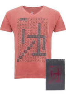 Camiseta Fiveblu Luck Vinho