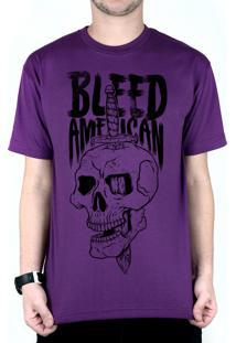 Camiseta Bleed American Bope Roxo