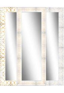 Espelho Emoldurado 61X162Cm Branco Euroquadro