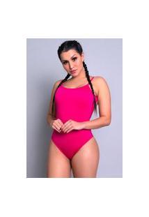 Body Mvb Modas Cavado Feminino Costa Nua Rosa