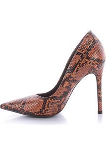 Scarpin Helo 1053-80799/1057-80799 Napa Paula Brazil (Aisha Caramelo) Cobra