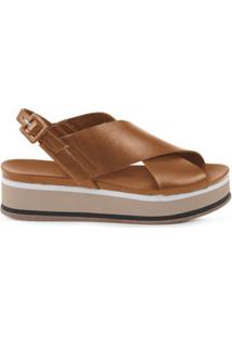Anabela Flat Form Tan