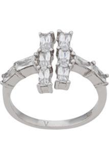 V Jewellery Anel Baguette - Prateado