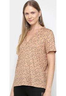 Tshirt My Favorite Thing Descolado Decote V Feminina - Feminino-Colorido