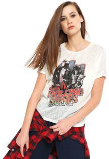 Camiseta Ellus The Rolling Stones Off-White