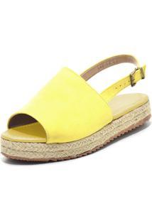Sandã¡Lia Anabela Flor Da Pele Amarelo - Amarelo - Feminino - Dafiti