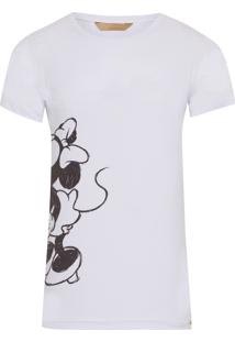 Blusa Masculina Minnie Valentine - Off White