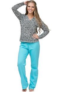 Pijama Longo Inspirate Arabesco - Feminino