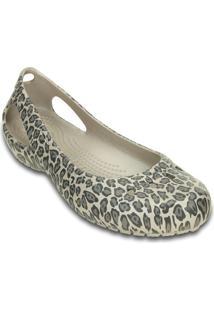 Sapatilha Crocs® Kadee Leopard- Bege Claro & Cinzacrocs