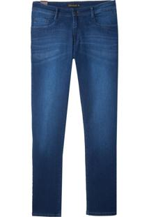 Calça Dudalina Jeans Blue Tank 3D Masculina (Jeans Escuro, 44)