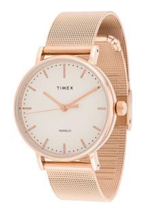 Timex Fairfield 37Mm Watch - Dourado