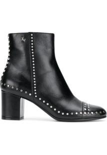 Zadig&Voltaire Ankle Boot De Couro - Preto