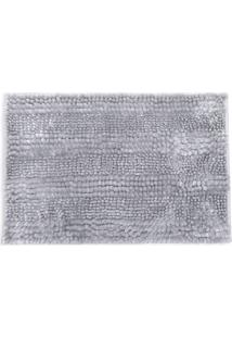 Tapete Microfibra Silver- Cinza- 60X40Cm- Buettnbuettner