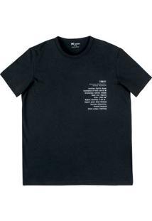 Camiseta Masculina Regular Em Malha De Algodão Estampada