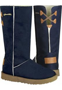 Bota Barth Shoes Las Lenas Feminina - Feminino-Azul Escuro