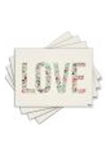 Jogo Americano - Love Com 4 Peças - 579Jo