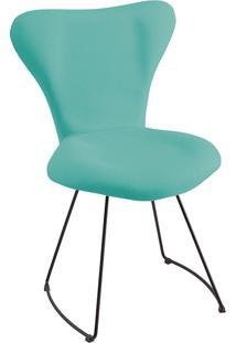 Cadeira Jacobsen Meia Lua T1130-Daf Mobiliário - Azul Turquesa