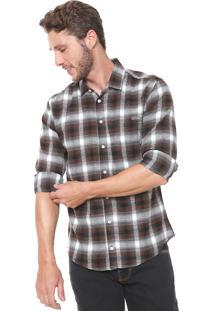 Camisa Colcci Xadrez Slim Marrom
