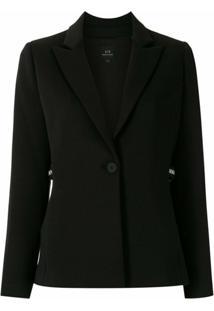 Armani Exchange Blazer Com Recortes - Preto