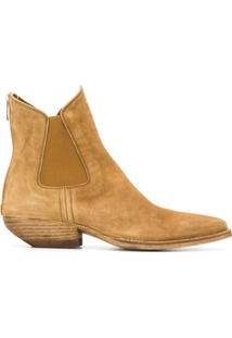 Officine Creative Ankle Boot Western - Marrom