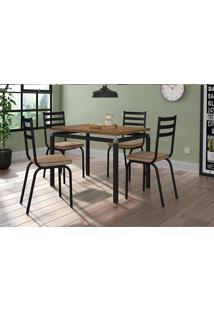Conjunto De Mesa Para Sala De Jantar Artefamol Malva Com 4 Cadeiras.