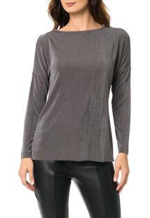 Blusa Calvin Klein Com Ombro Vazado Cinza Médio - P
