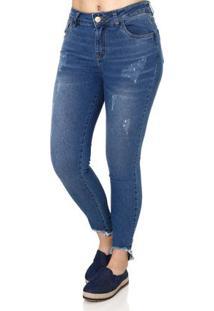 2df8a4b50 Lojas Pompeia. Calça Jeans Feminina Uber Azul