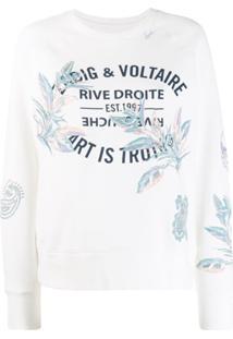 Zadig&Voltaire Suéter Com Logo Estampado - Branco