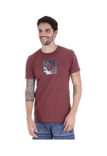 Camiseta Hang Loose Logoarmy - Masculina - Vinho