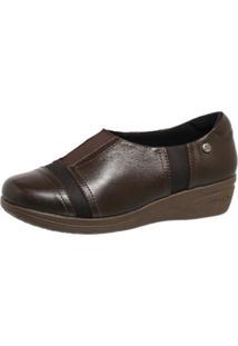 Sapato Anabela Neuroma De Morton Doctor Shoes 179 Café