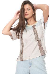 Camiseta Forum Estampada Bege/Off-White