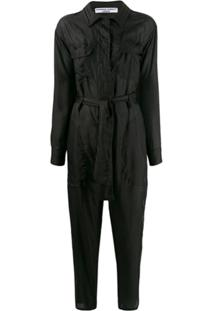 Katharine Hamnett London Eleanor Silk Boiler Suit - Preto