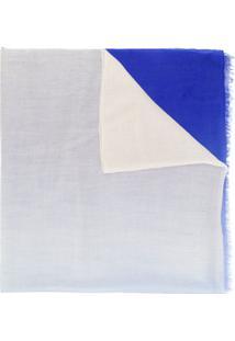 Snobby Sheep Cachecol De Cashmere Em Degradê - Azul