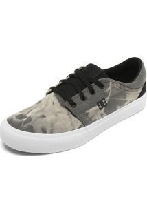 Tênis Dc Shoes Estampado Cinza